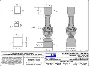 Baluster CAD Drawing